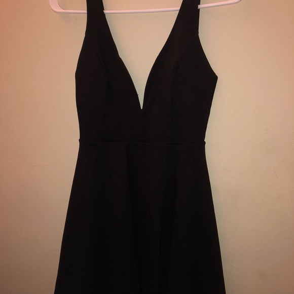"Lulu s Dresses   Skirts - ""LOVE GALORE BLACK SKATER DRESS"" semi formal dress 4f26445b1"